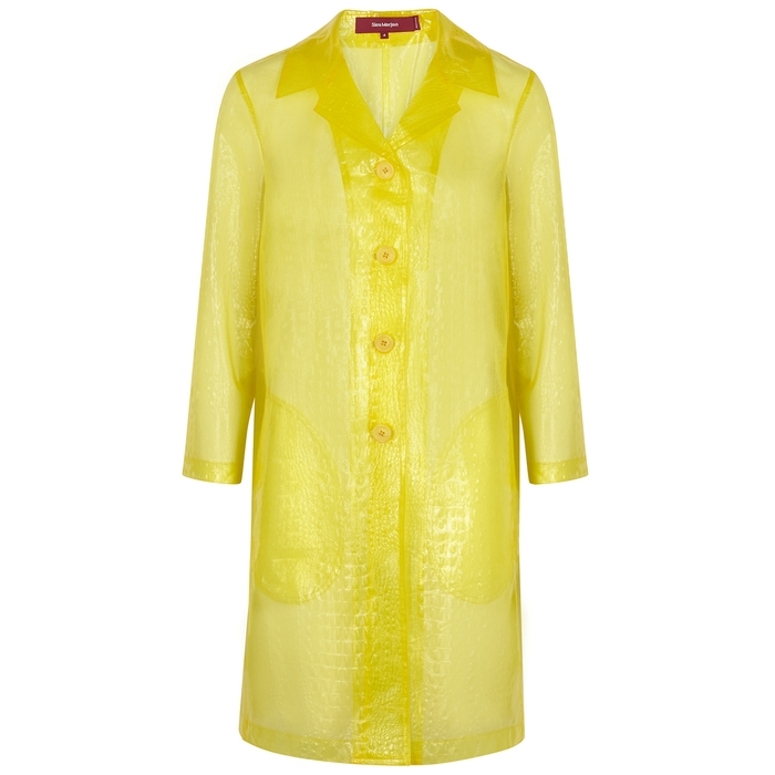Sies Marjan Coats TRANSPARENT YELLOW PVC COAT
