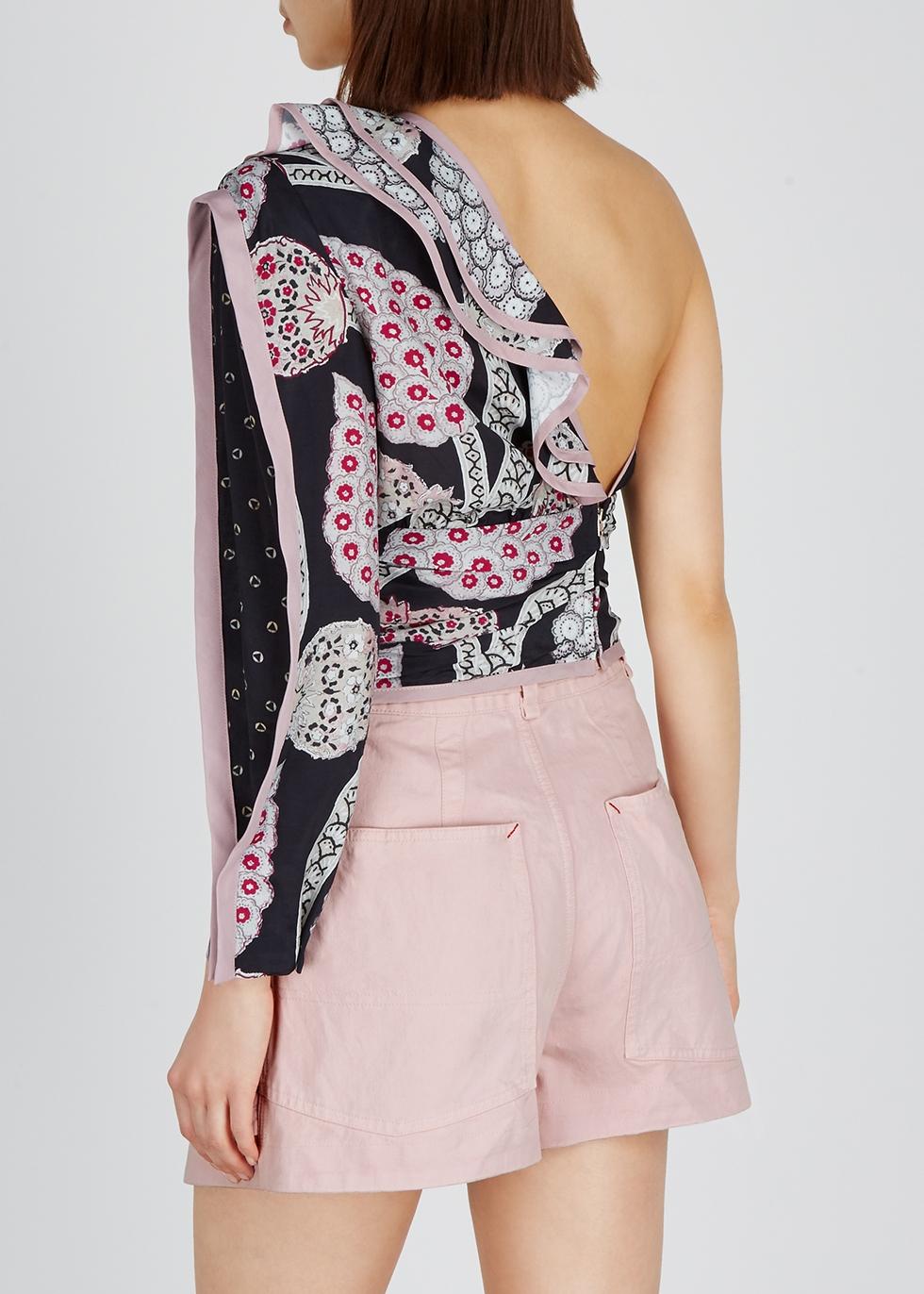 Joren printed one-shoulder top - Isabel Marant