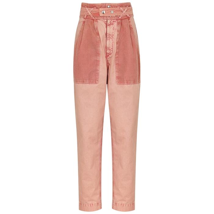 Isabel Marant Jeans Turner pink tapered jeans
