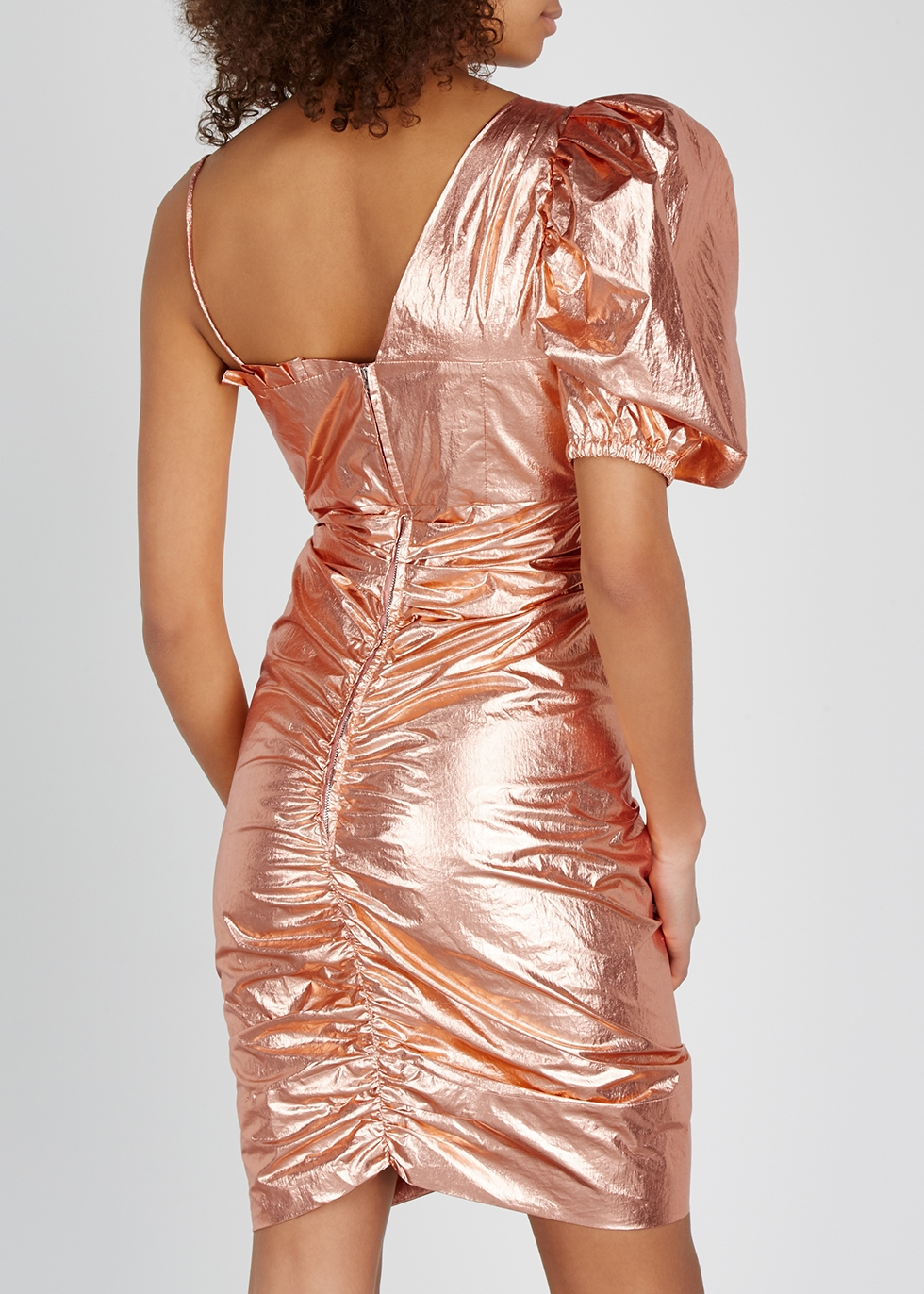 Talma rose gold ruched mini dress - Isabel Marant