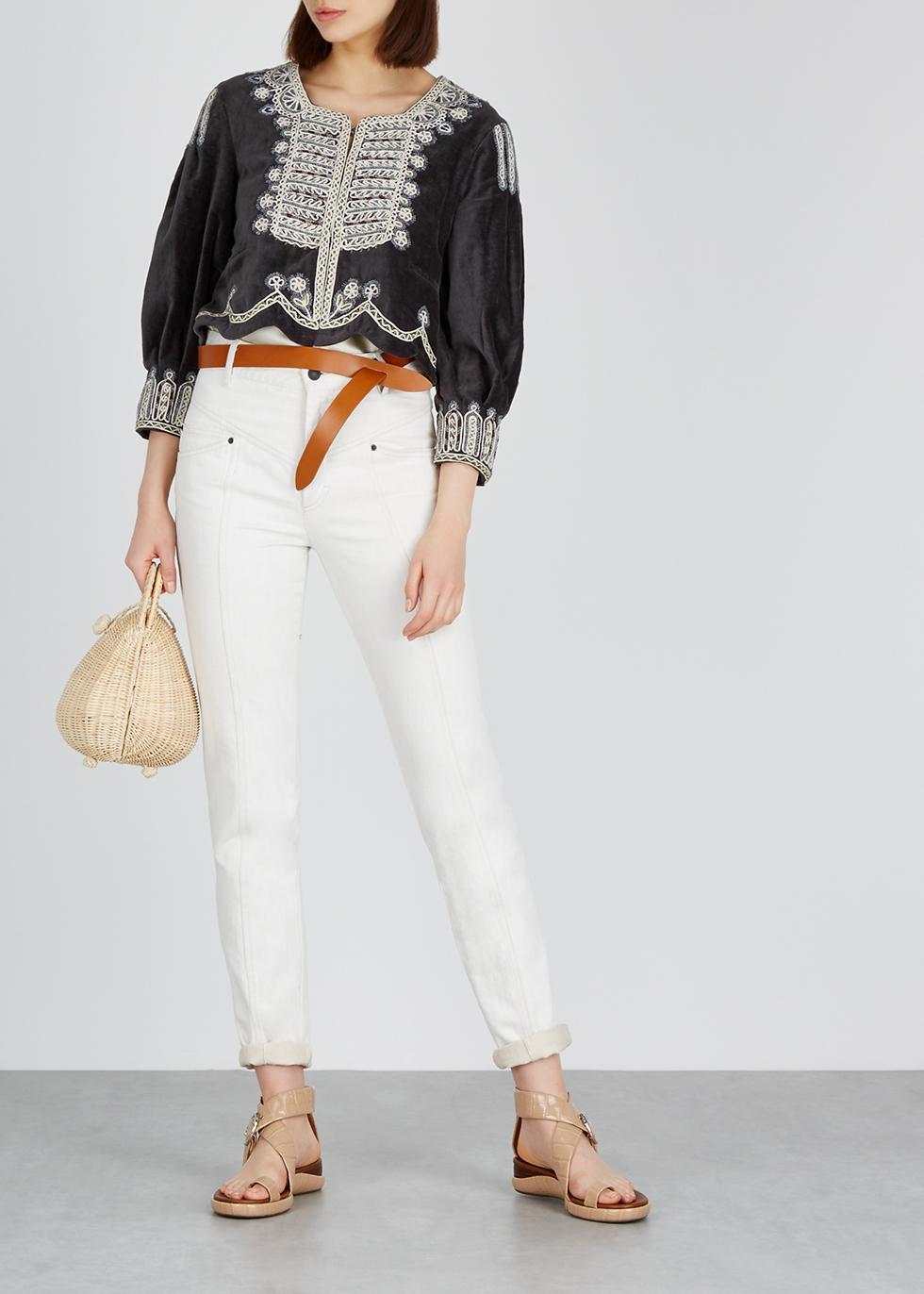 Amity embroidered velvet jacket - Isabel Marant
