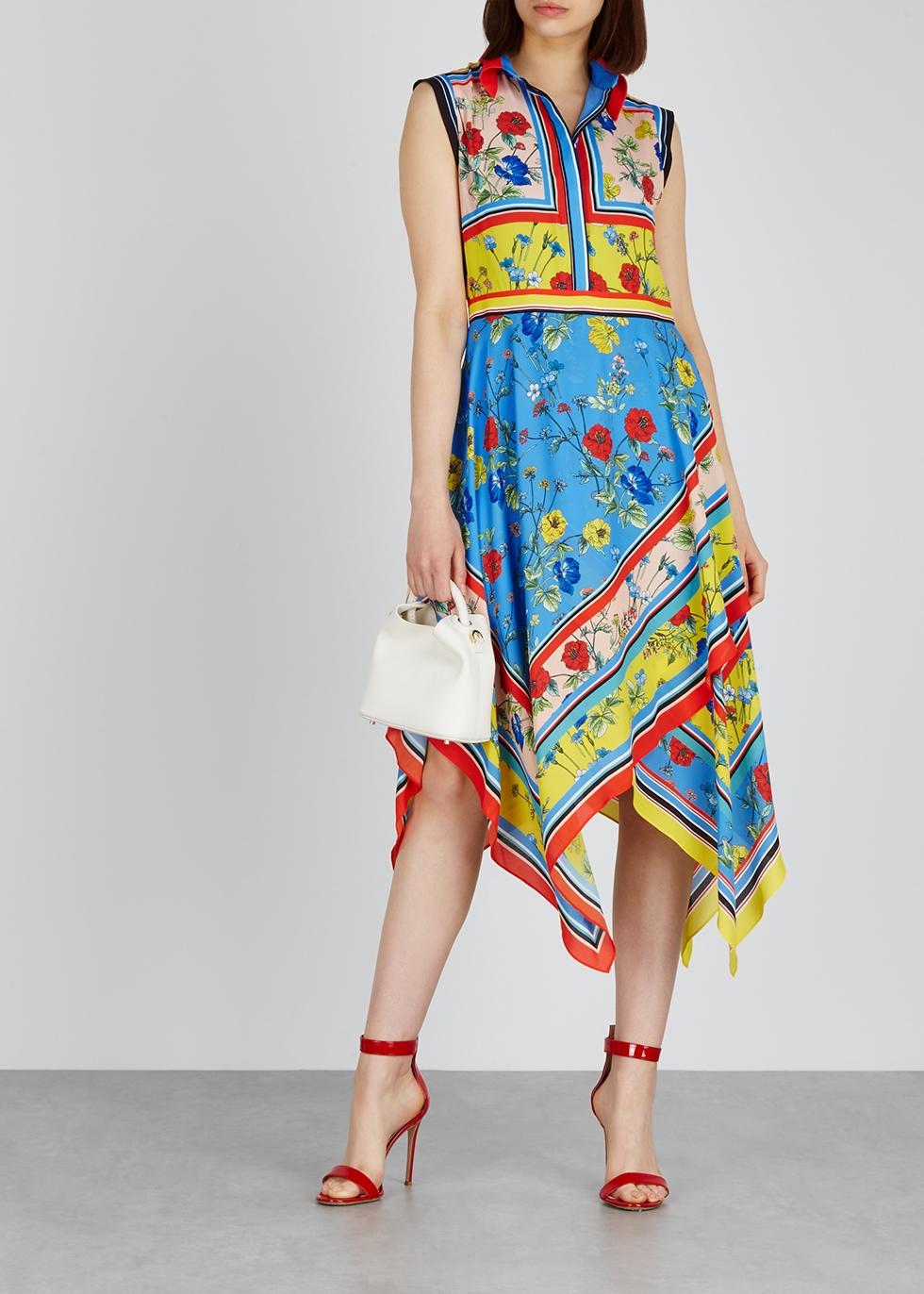 Farrah printed midi dress - Alice + Olivia