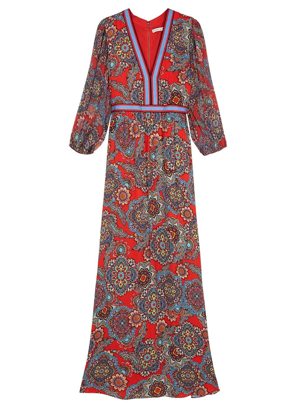 Jaida printed maxi dress - Alice + Olivia