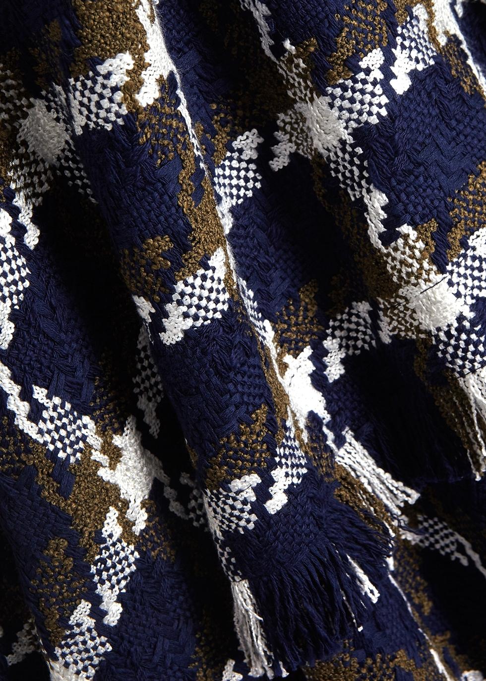 Checked asymmetric tweed dress - MONSE