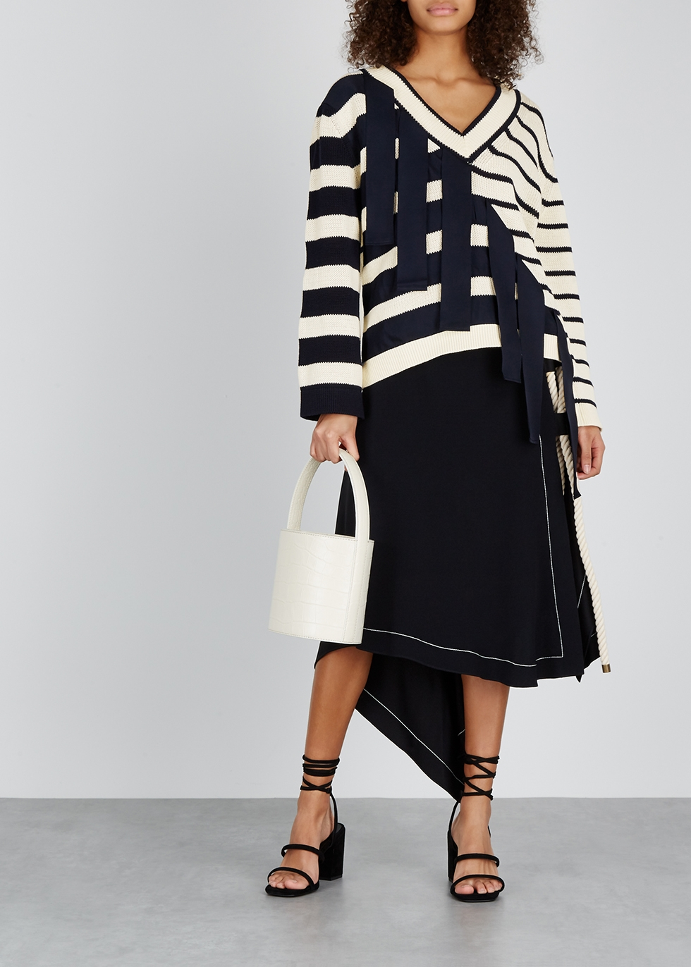 Striped cotton jumper - MONSE