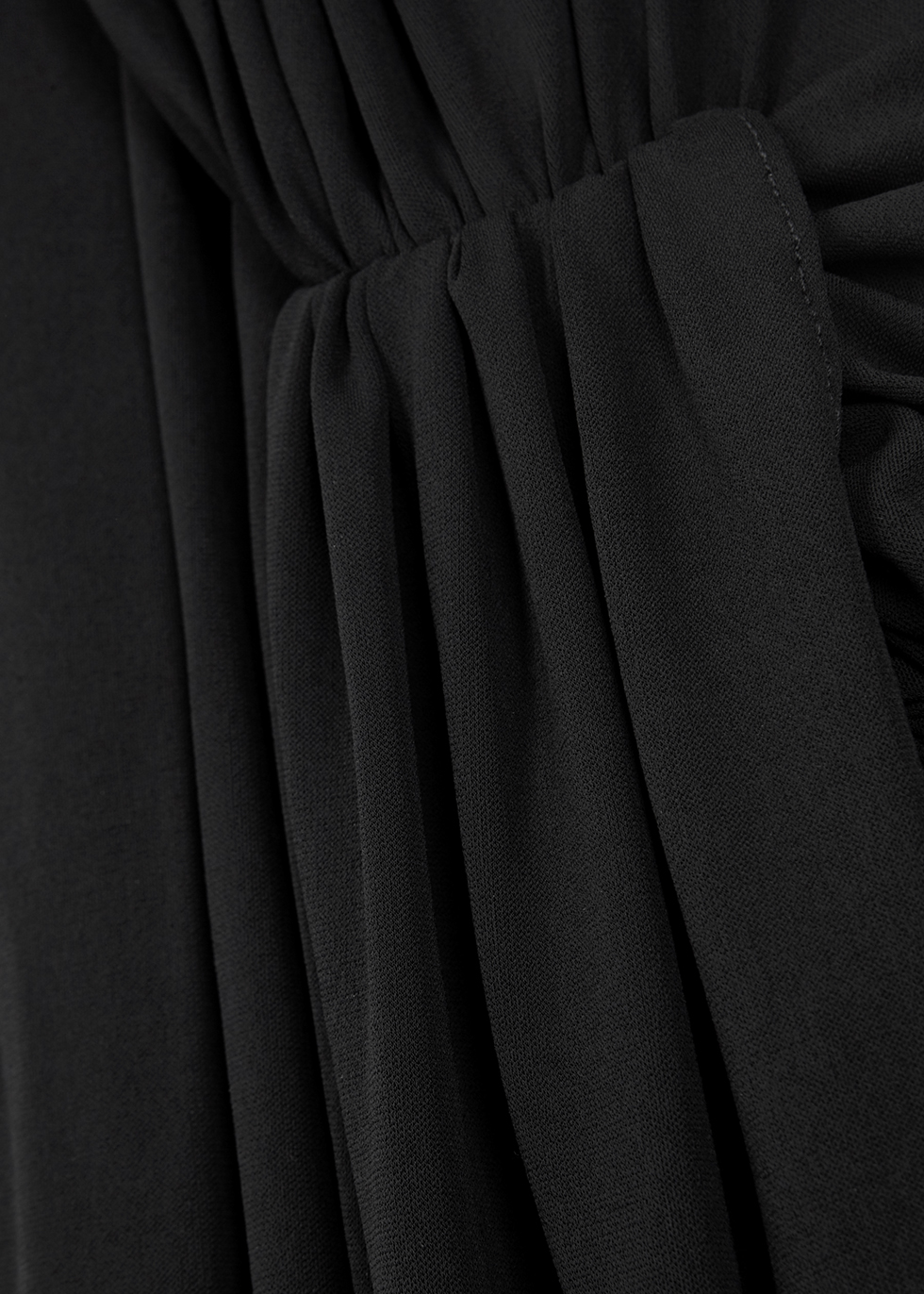 Black cut-out jersey maxi dress - Alexandre Vauthier
