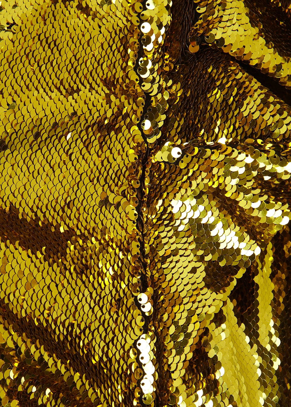 Gold sequin mini dress - Alexandre Vauthier