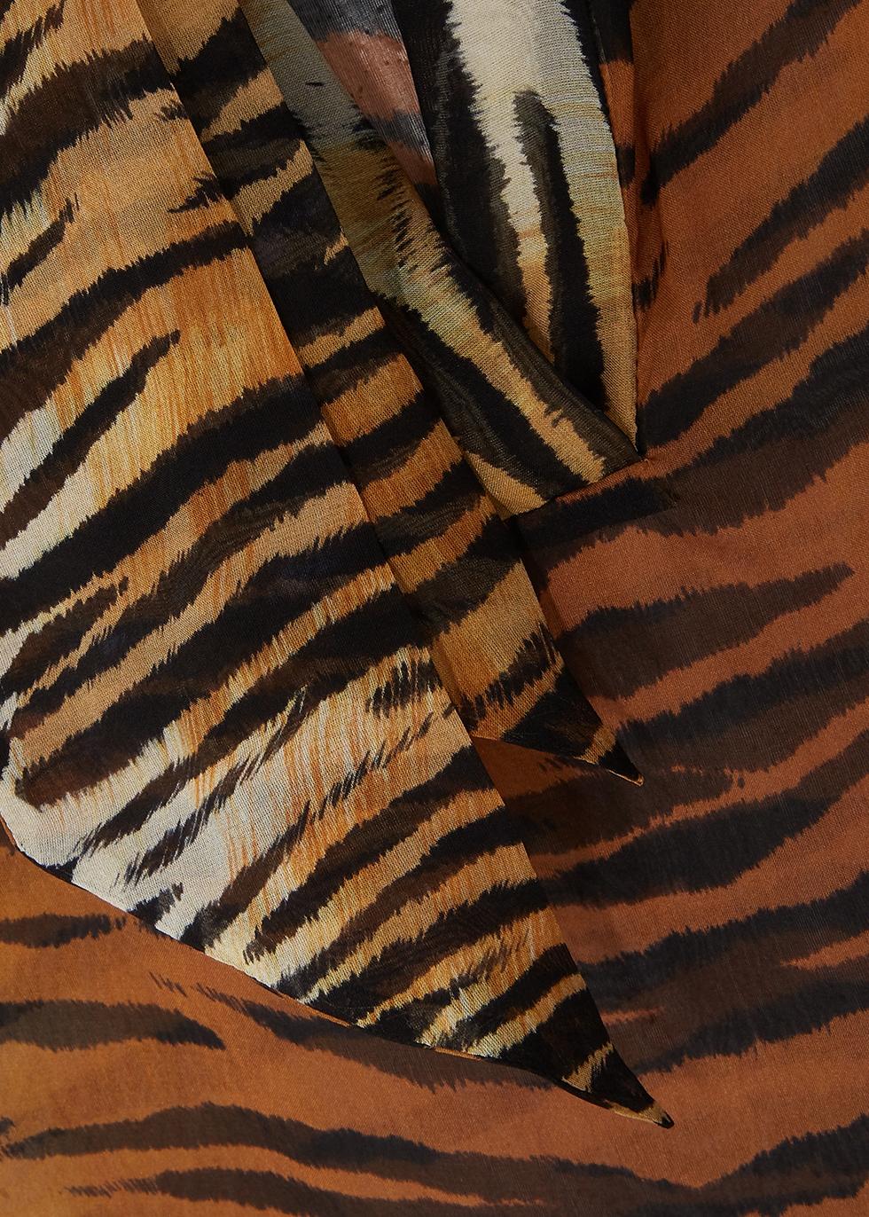 Tiger-print silk-chiffon blouse - Alexandre Vauthier