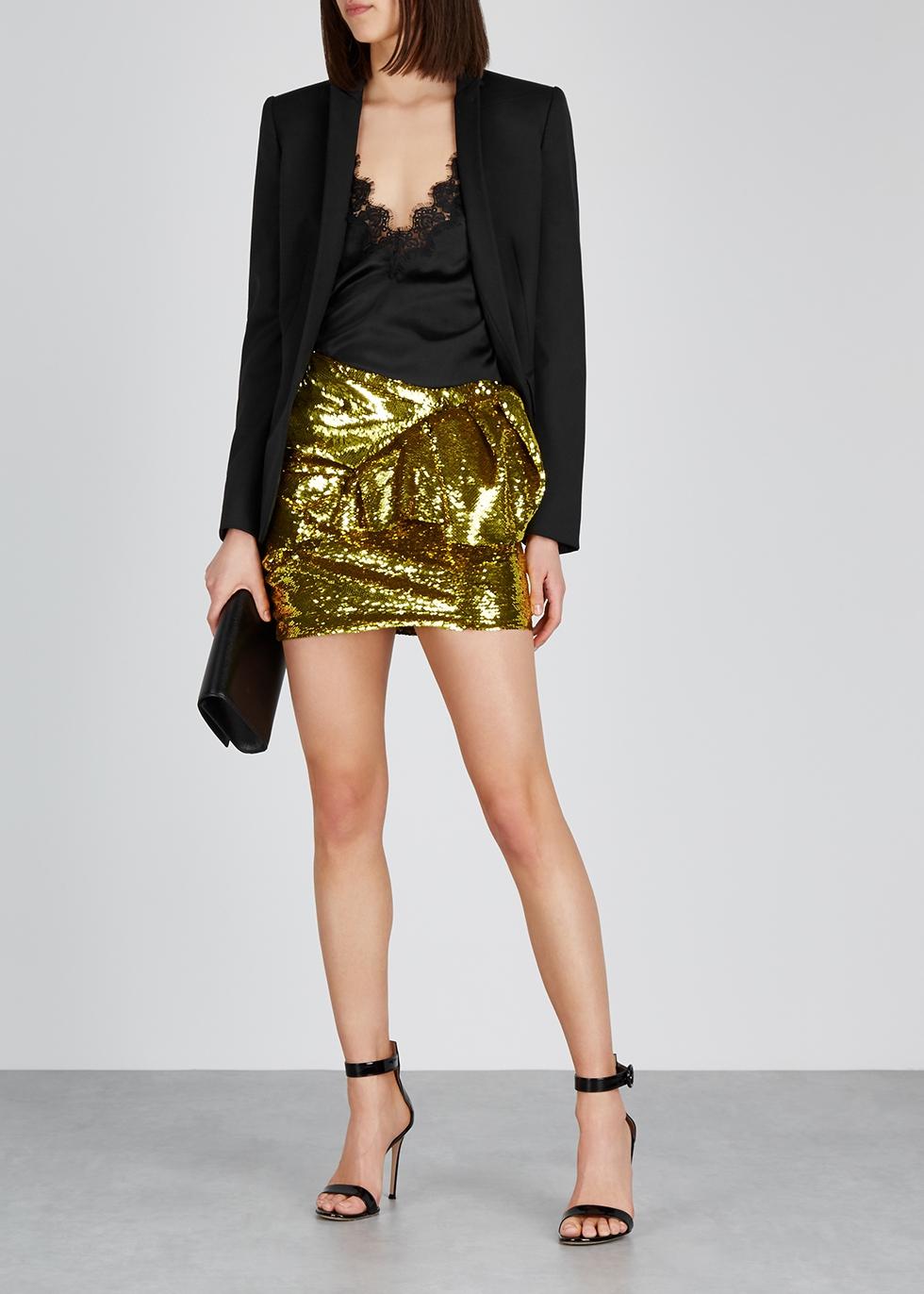 Gold sequin mini skirt - Alexandre Vauthier