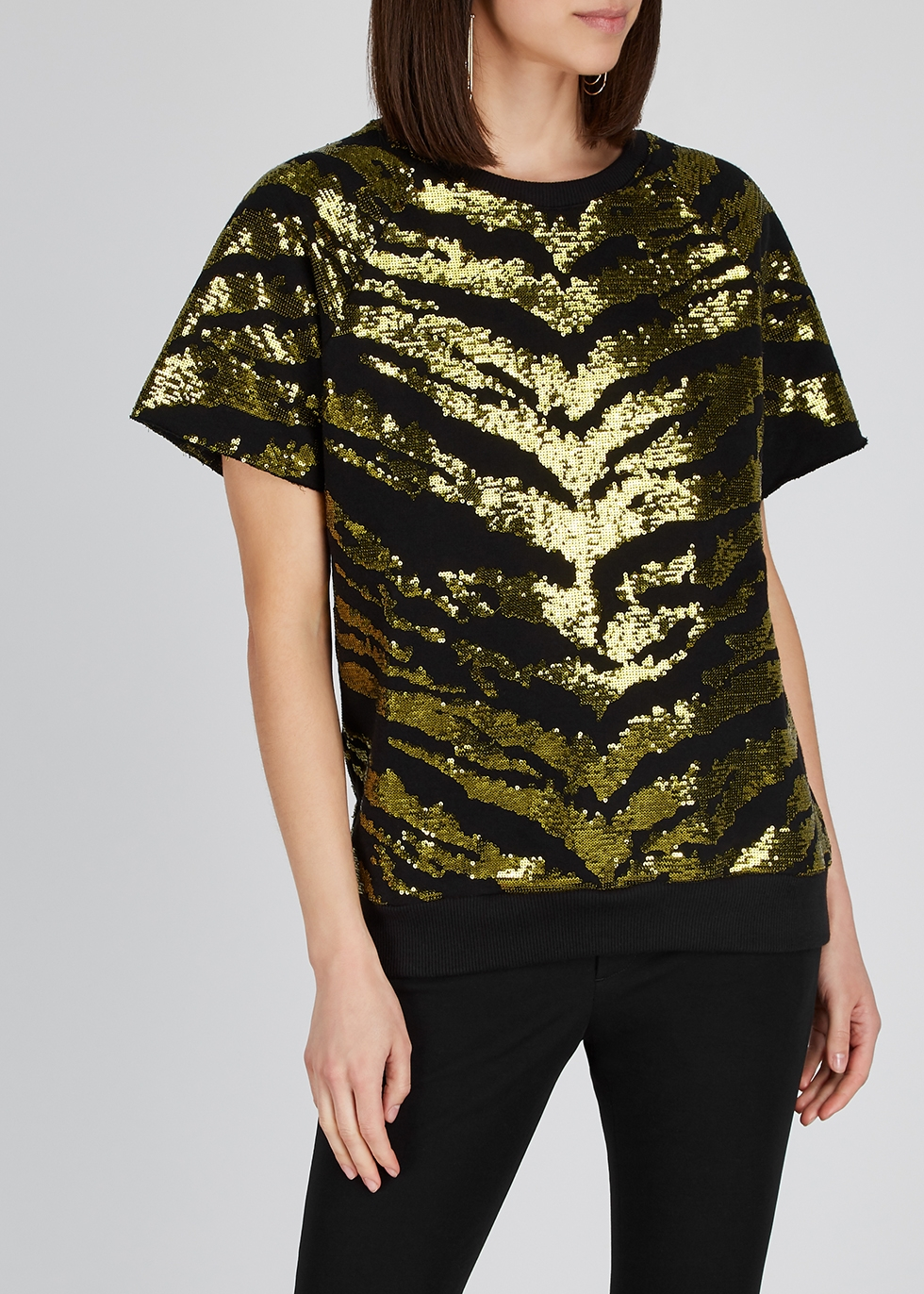 Sequin-embellished cotton sweatshirt - Alexandre Vauthier