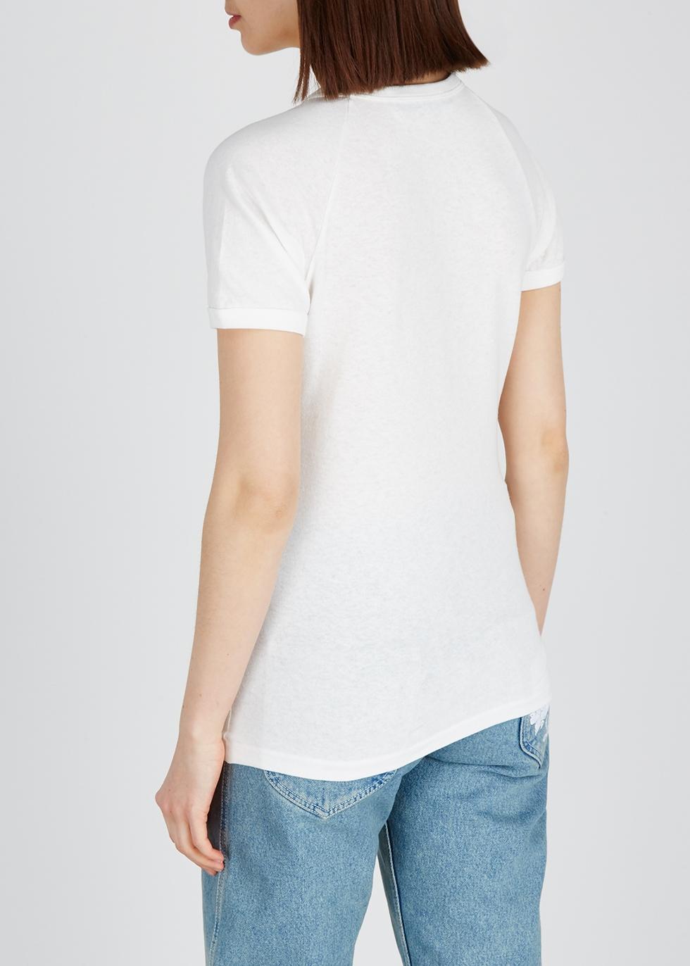 White printed cotton T-shirt - Gucci