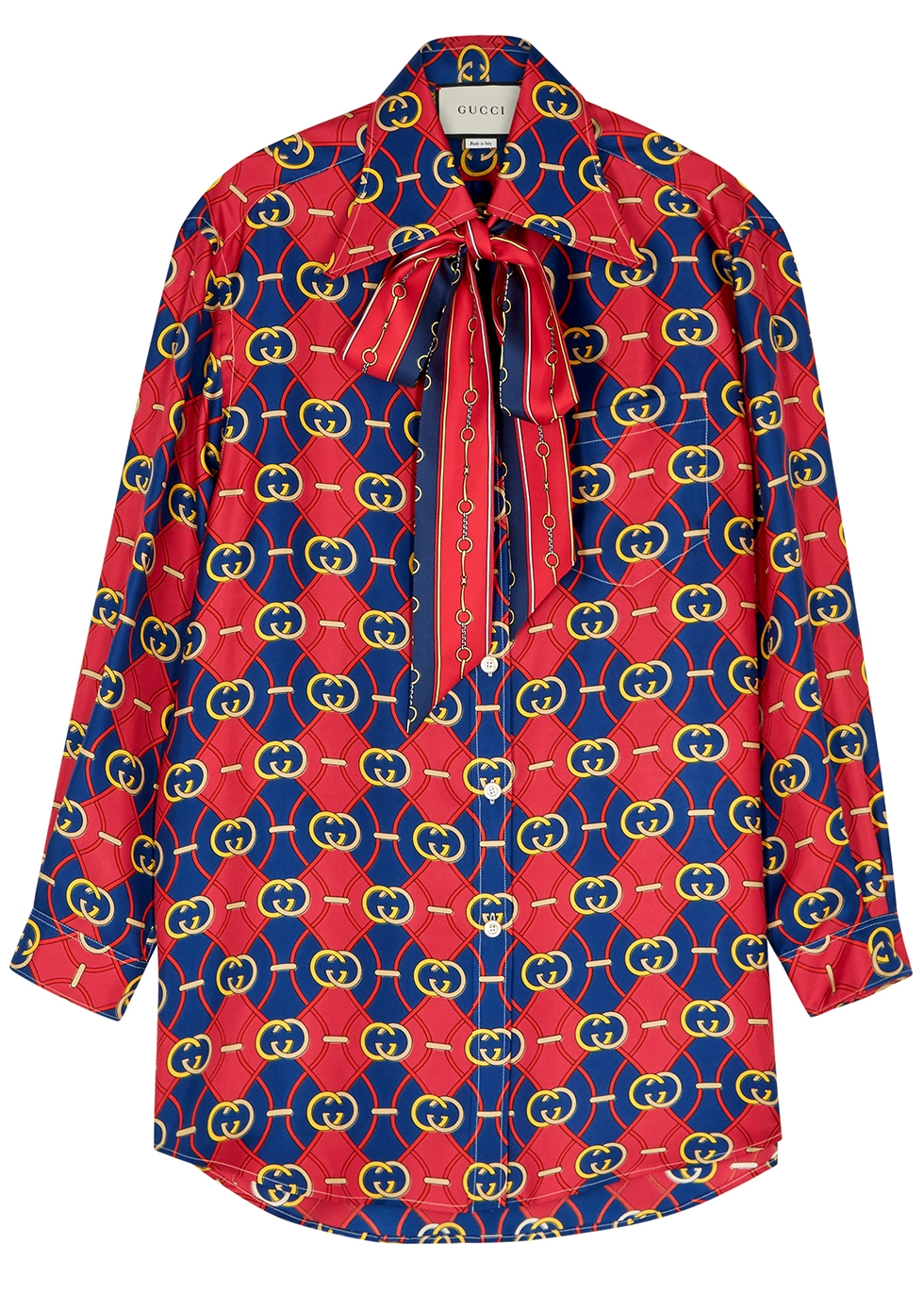 GG printed silk top - Gucci
