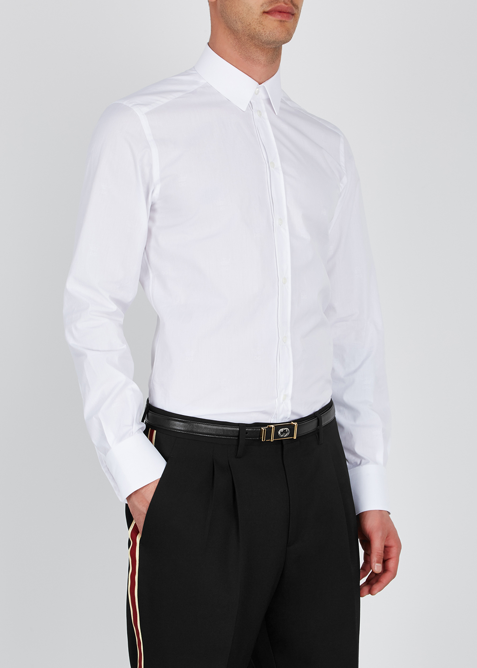 GG black leather belt - Gucci