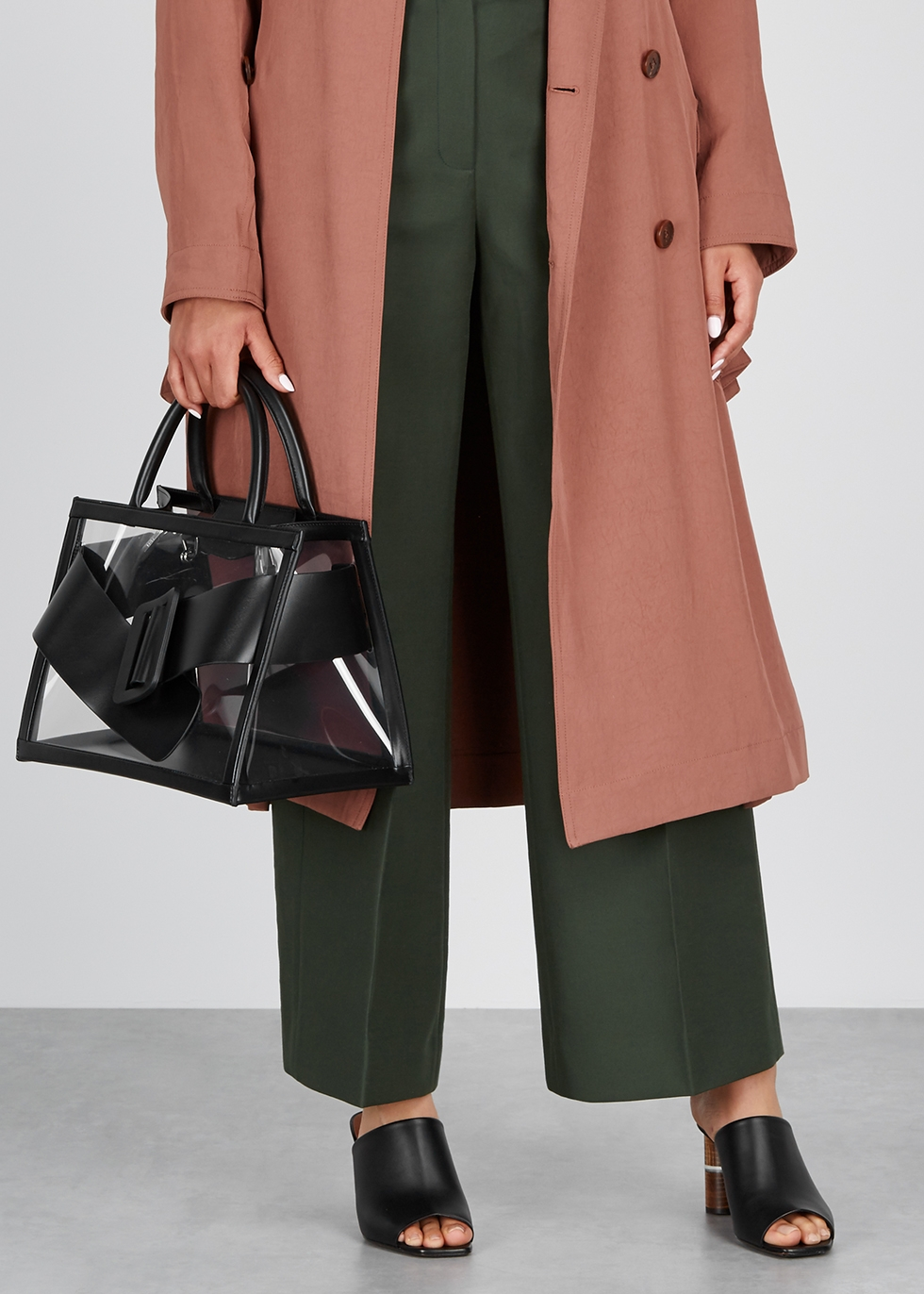 Bobby leather and PVC top handle bag - Boyy