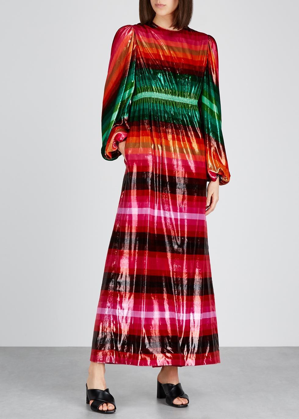 Striped lamé maxi dress - Valentino