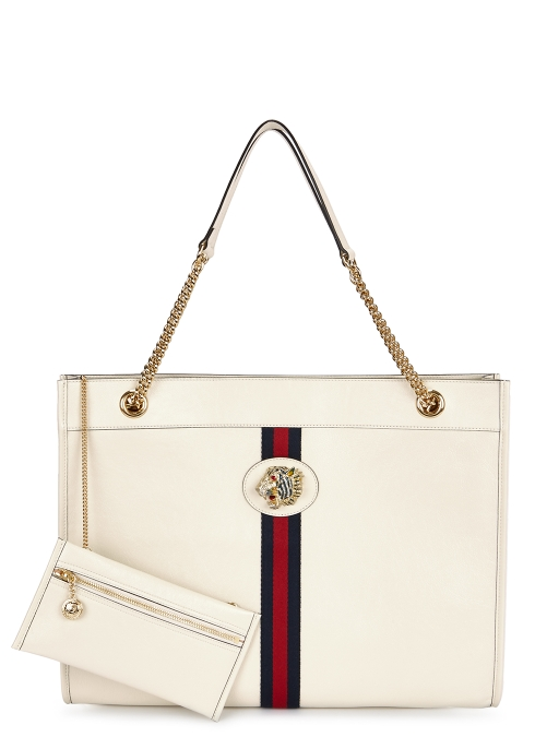 f1d989612d6b Gucci Rajah large off-white leather tote - Harvey Nichols