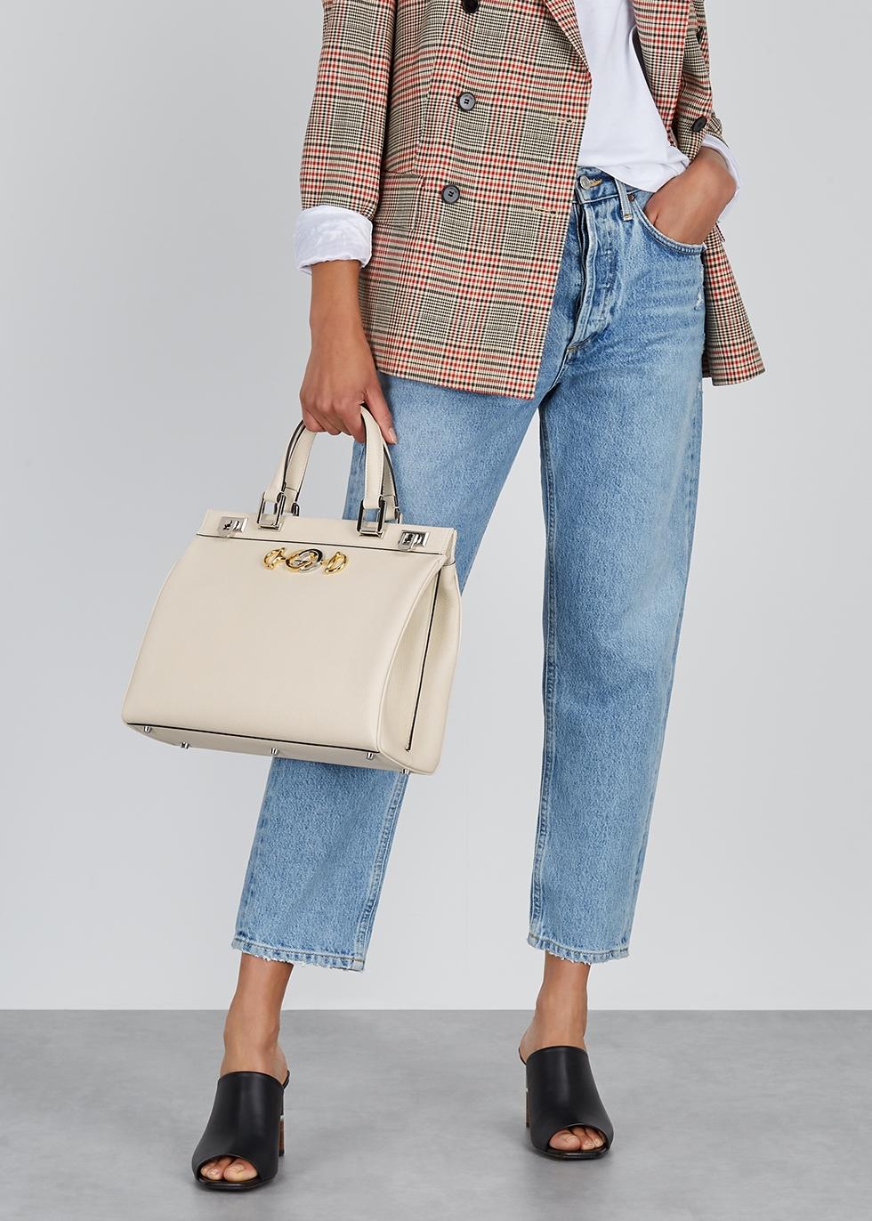 Zumi medium leather top handle bag - Gucci
