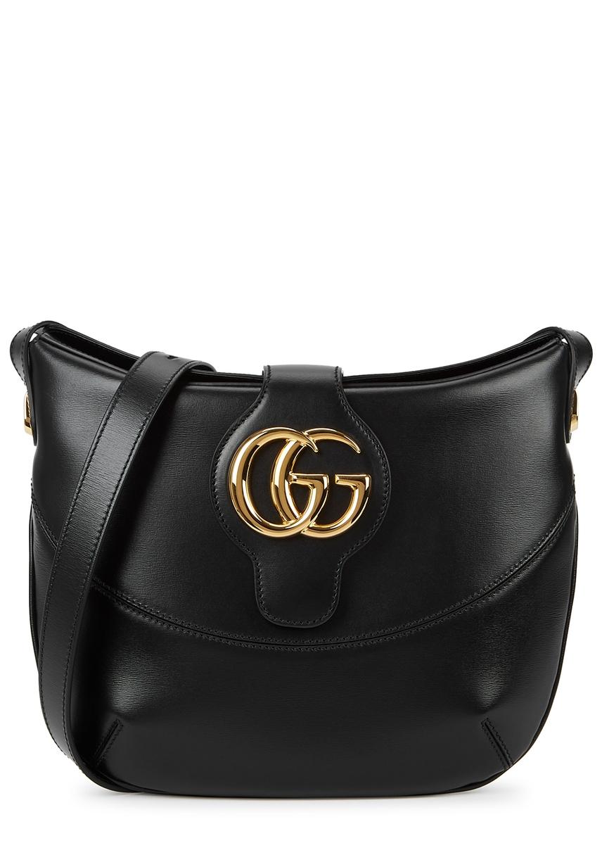 f98fa9b7bd8 Arli medium black leather shoulder bag ...