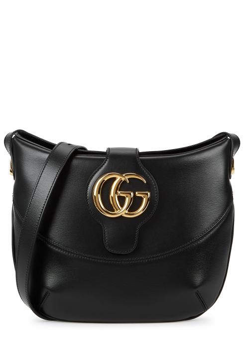 08deb386dfa Gucci Arli medium black leather shoulder bag - Harvey Nichols