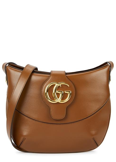 aae455640da Gucci Arli medium brown leather shoulder bag - Harvey Nichols