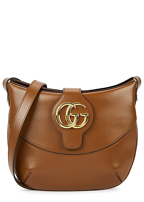 4cfca2869fd70c Gucci Arli medium brown leather shoulder bag - Harvey Nichols