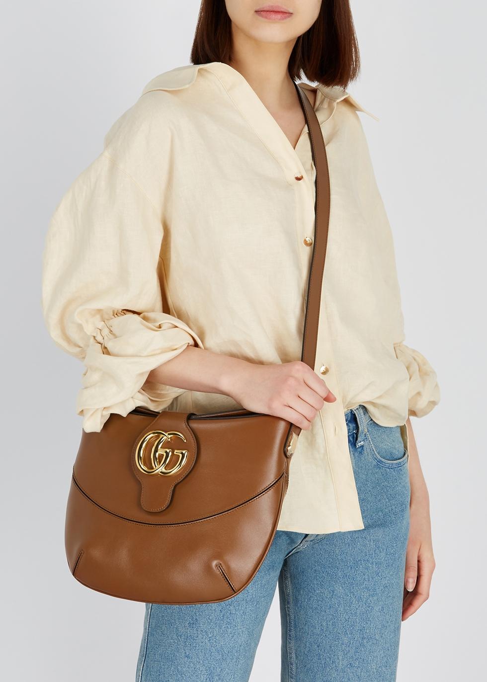Arli medium brown leather shoulder bag - Gucci