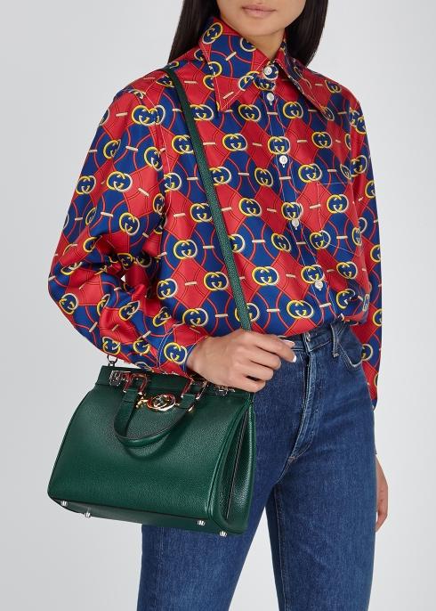 9d0eb2d7821 Gucci Zumi small leather top-handle bag - Harvey Nichols