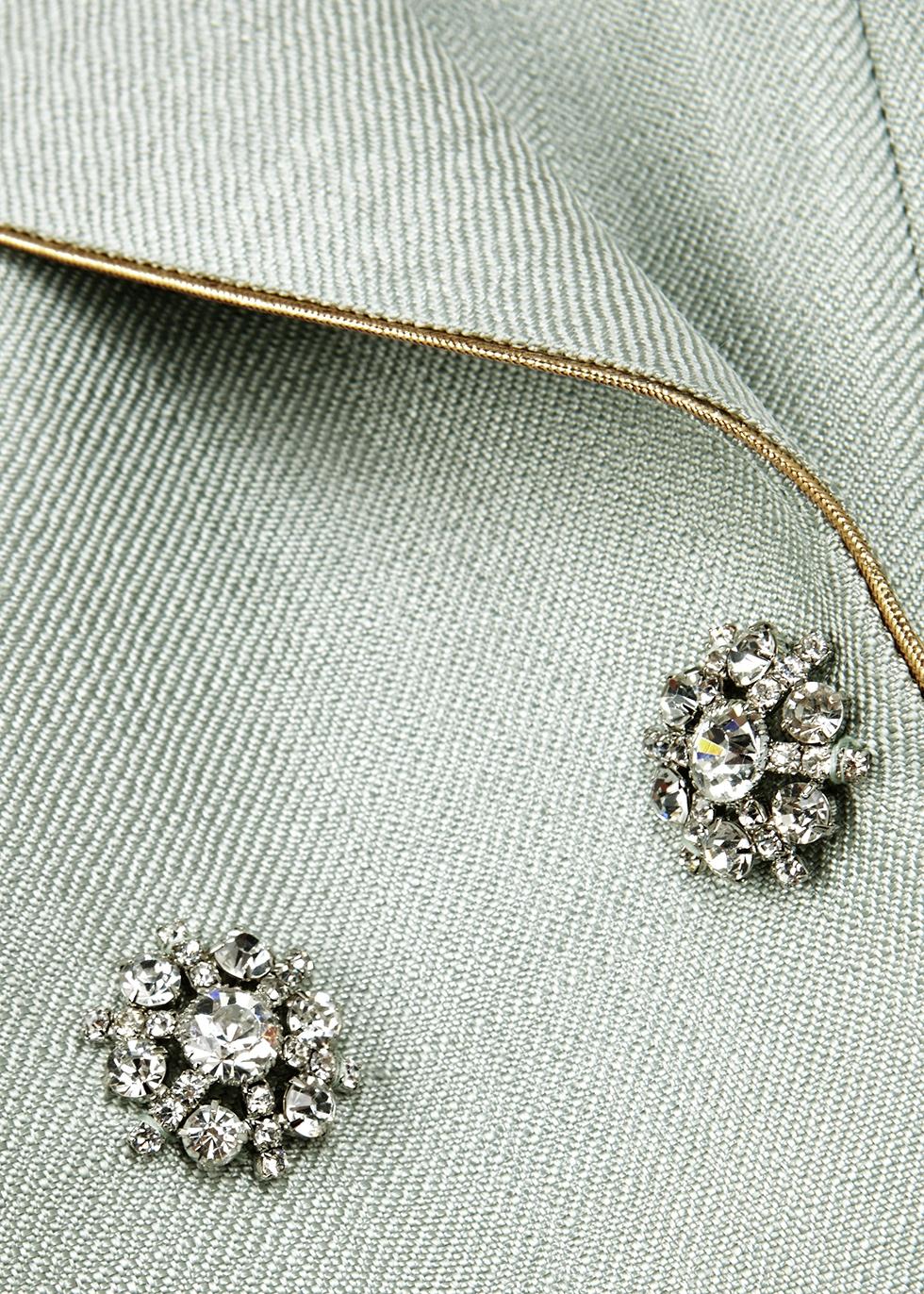 Mint embellished twill waistcoat - Peter Pilotto