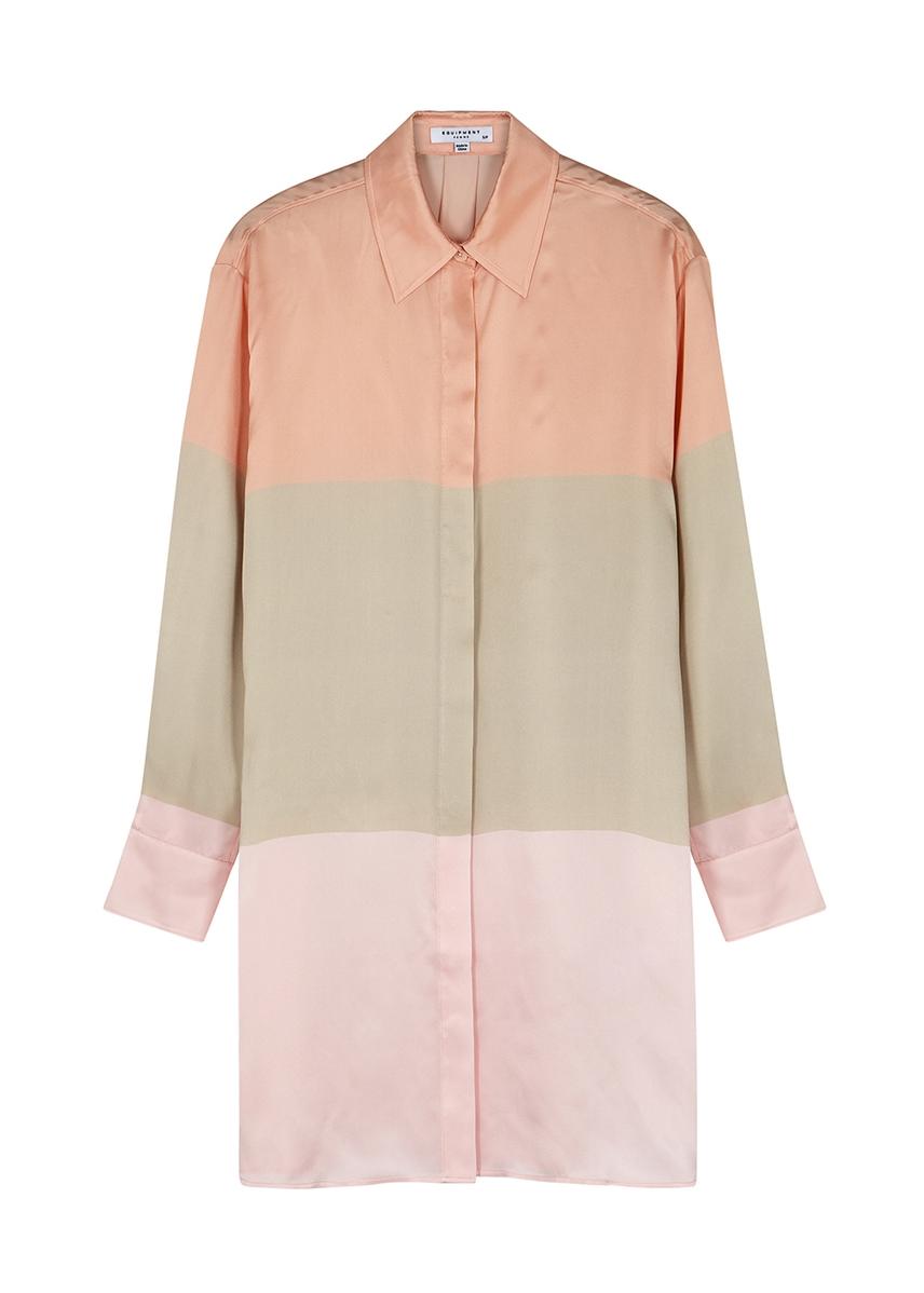 0c0e2db992a6 Pastel silk shirt dress ...