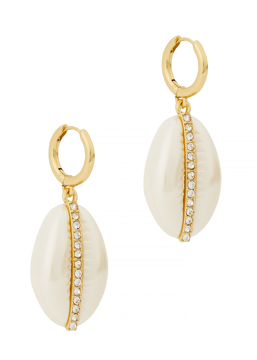 BAUBLEBAR | Baublebar Gold-Tone Shell Earrings | Goxip