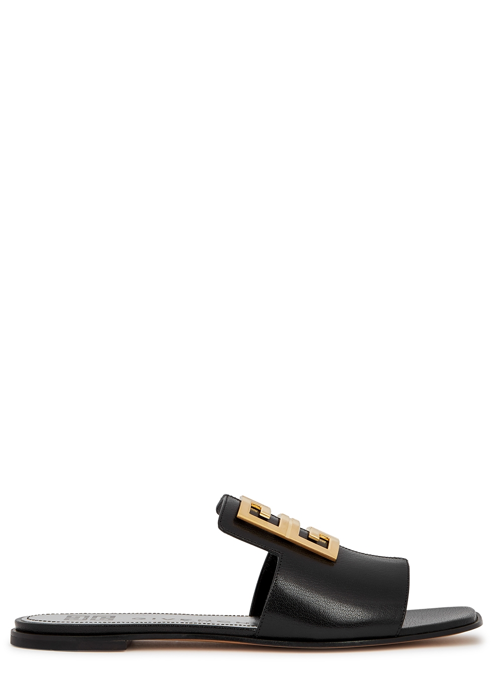 GIVENCHY | Givenchy 4G Black Leather Mules | Goxip