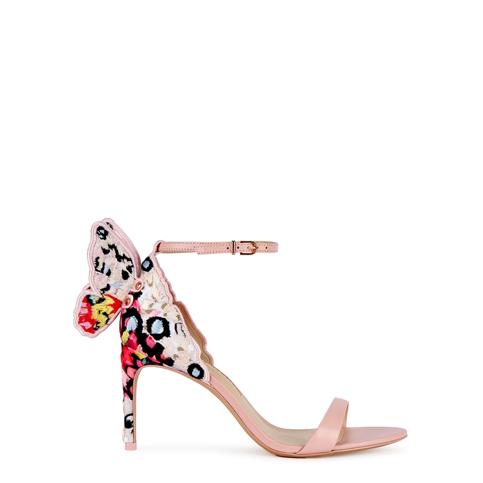 Sophia Webster Chiara 85 Winged Leather Sandals In Light Pink
