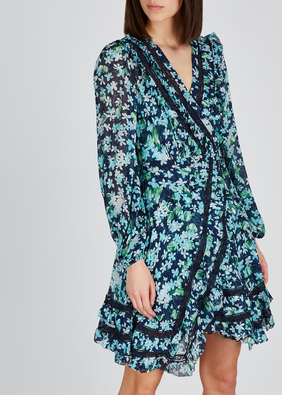 Moncur floral-print chiffon wrap dress - Zimmermann