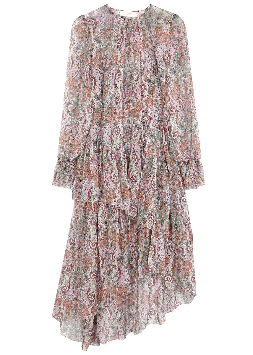 e80936a2f5f9c1 Ninety-Six printed silk chiffon dress ...