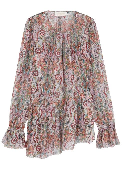 521bd29544 Zimmermann Ninety-Six silk chiffon blouse - Harvey Nichols
