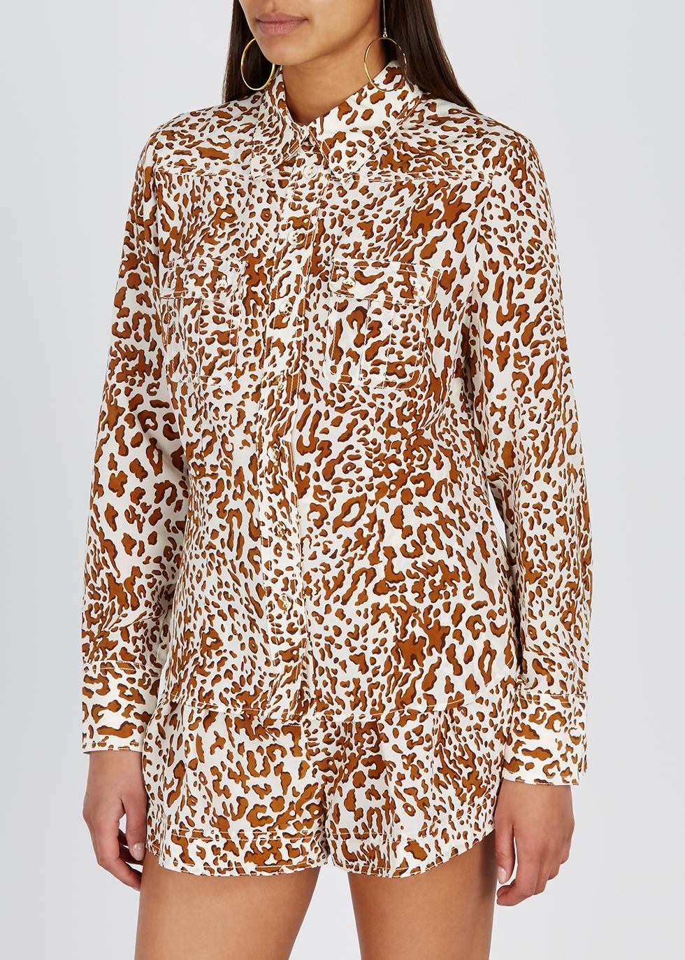 Utility leopard-print silk shorts - Zimmermann