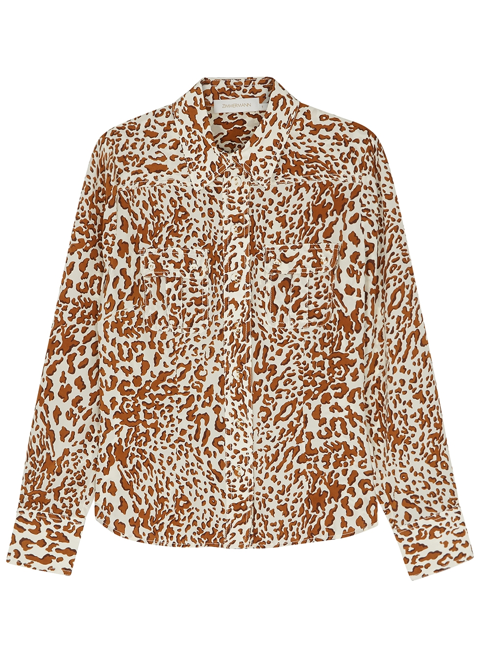 Utility leopard-print silk shirt - Zimmermann