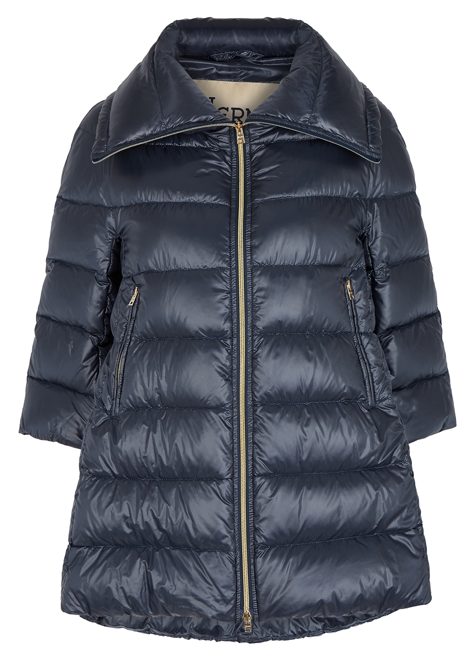 Icon quilted shell coat