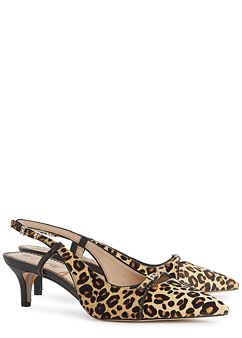 05257dcc3cc Sam Edelman Denia 50 leopard-print calf hair pumps - Harvey Nichols