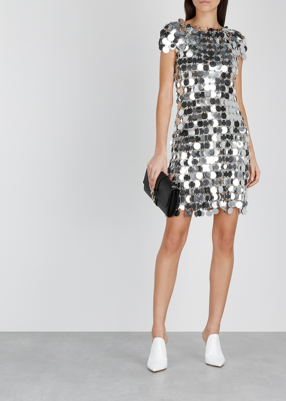 Silver chainmail mini dress - Paco Rabanne