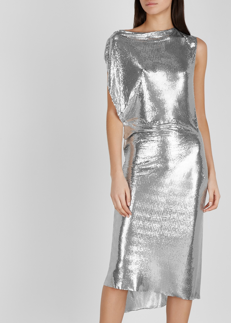Silver draped chainmail dress - Paco Rabanne
