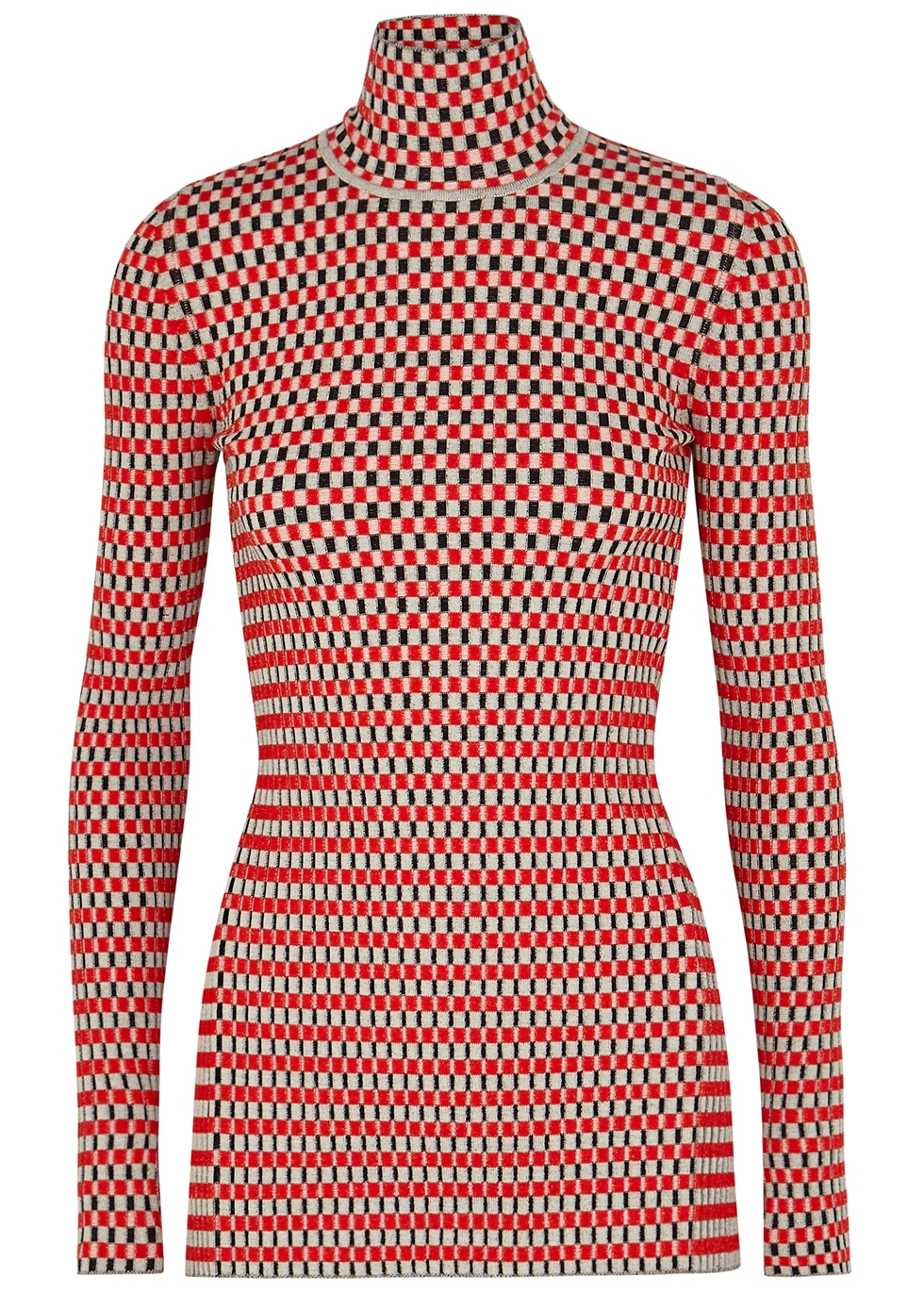 Checked cotton-blend top - Paco Rabanne