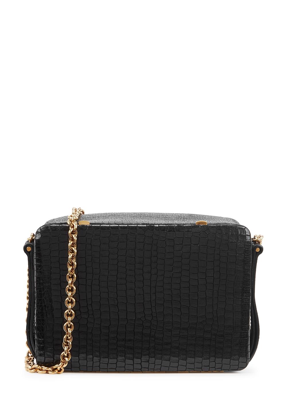Morrow mini black leather shoulder bag - Lutz Morris