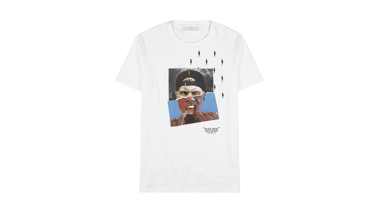 c561a79d4 Neil Barrett Rap Nox white cotton T-shirt - Harvey Nichols