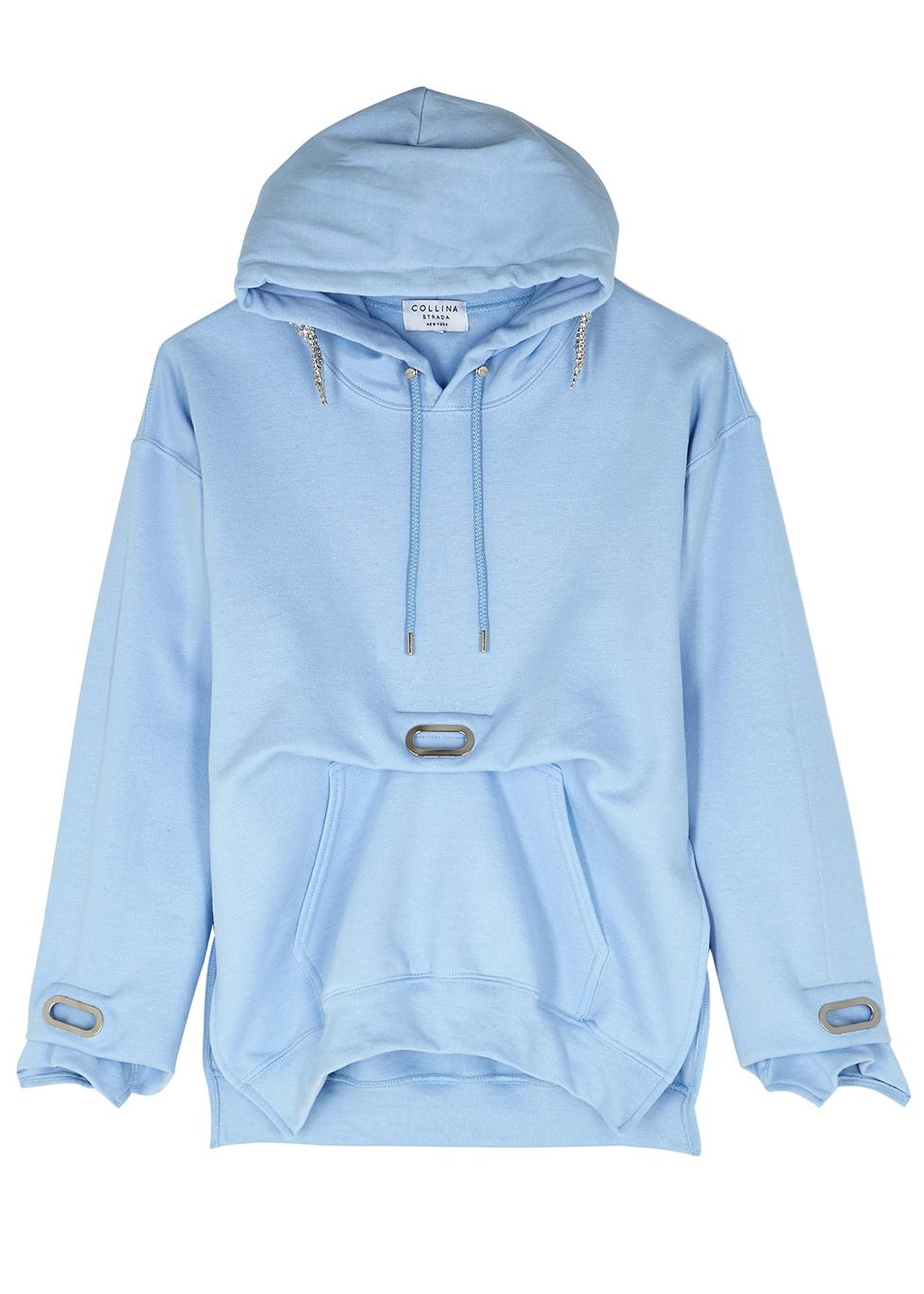 Earring crystal-embellished jersey sweatshirt - Collina Strada