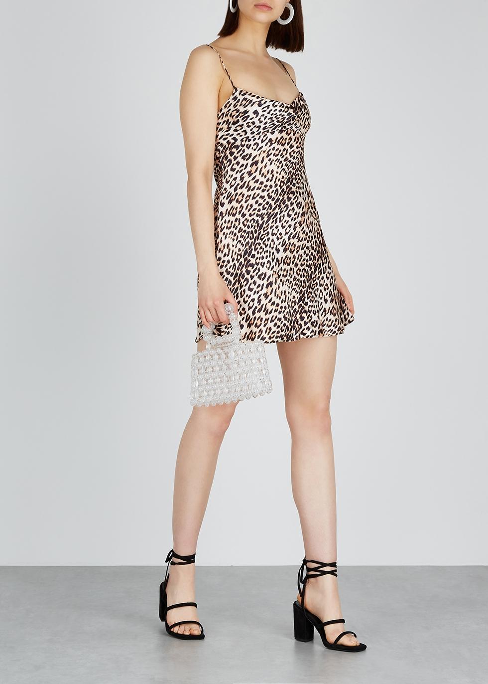 Feline leopard-print silk mini dress - Bec & Bridge