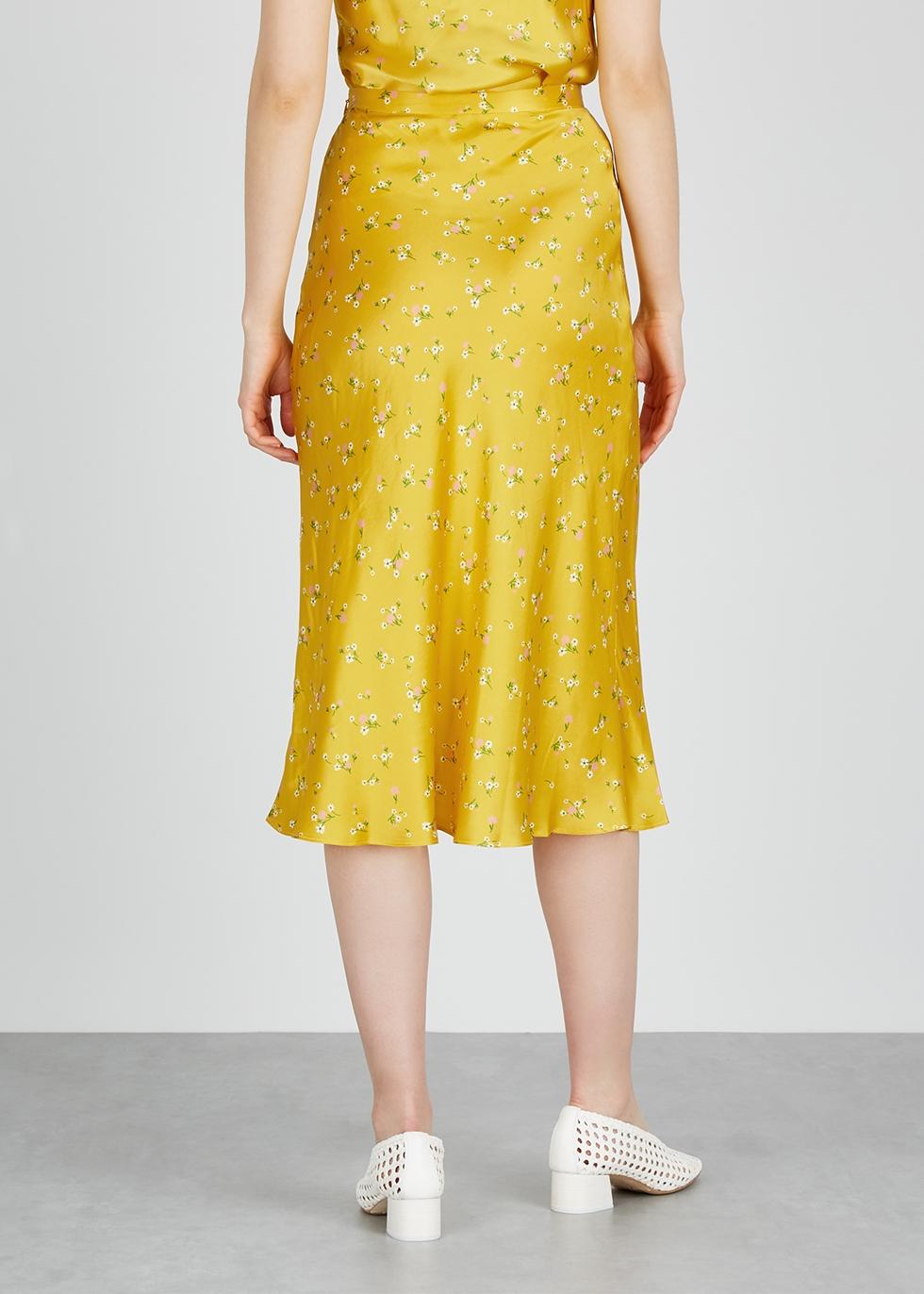 Only In Paris yellow silk skirt - Bec & Bridge