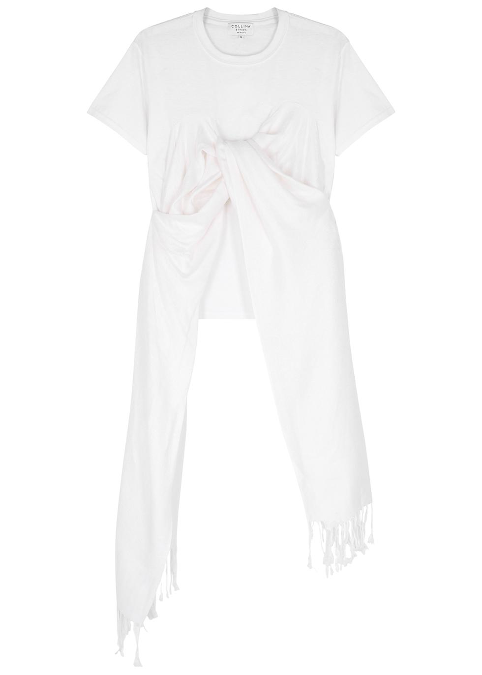Pashmina white cotton T-shirt - Collina Strada