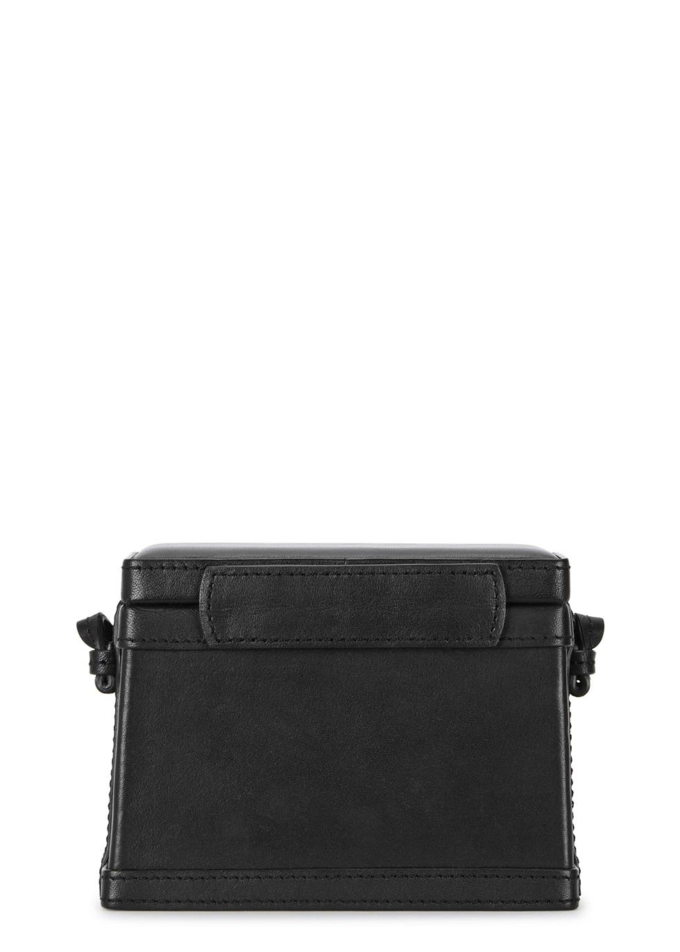 Black leather cross-body bag - Hunting Season