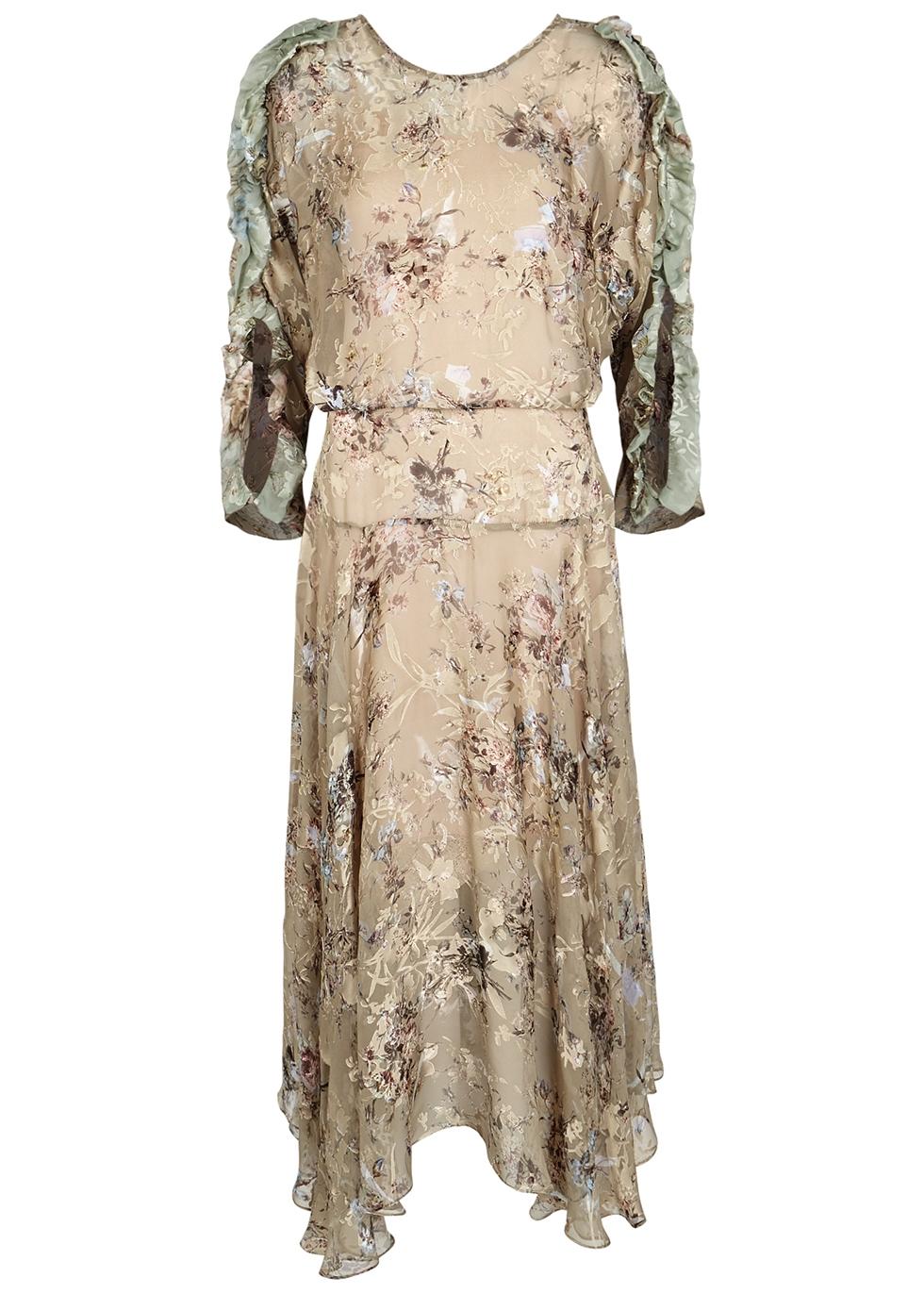 Scarlett floral-print georgette midi dress - Preen By Thornton Bregazzi